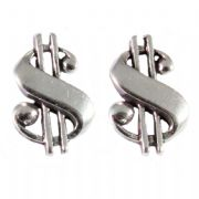 Sterling Silver Stud Earrings - Dollars